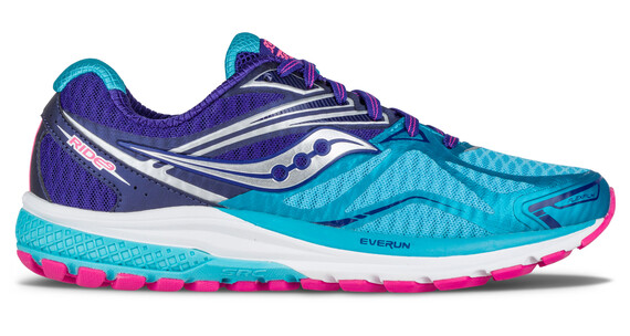 saucony Ride 9 Running Shoes Women Navy/Blue/Pink